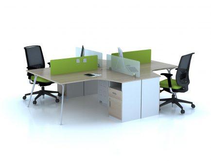 Ưu điểm của bàn làm việc có vách ngăn cho nhân viên