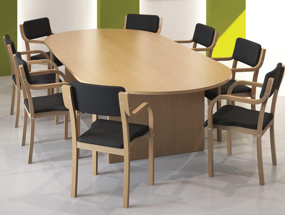 Bàn phòng họp làm từ gỗ công nghiệp